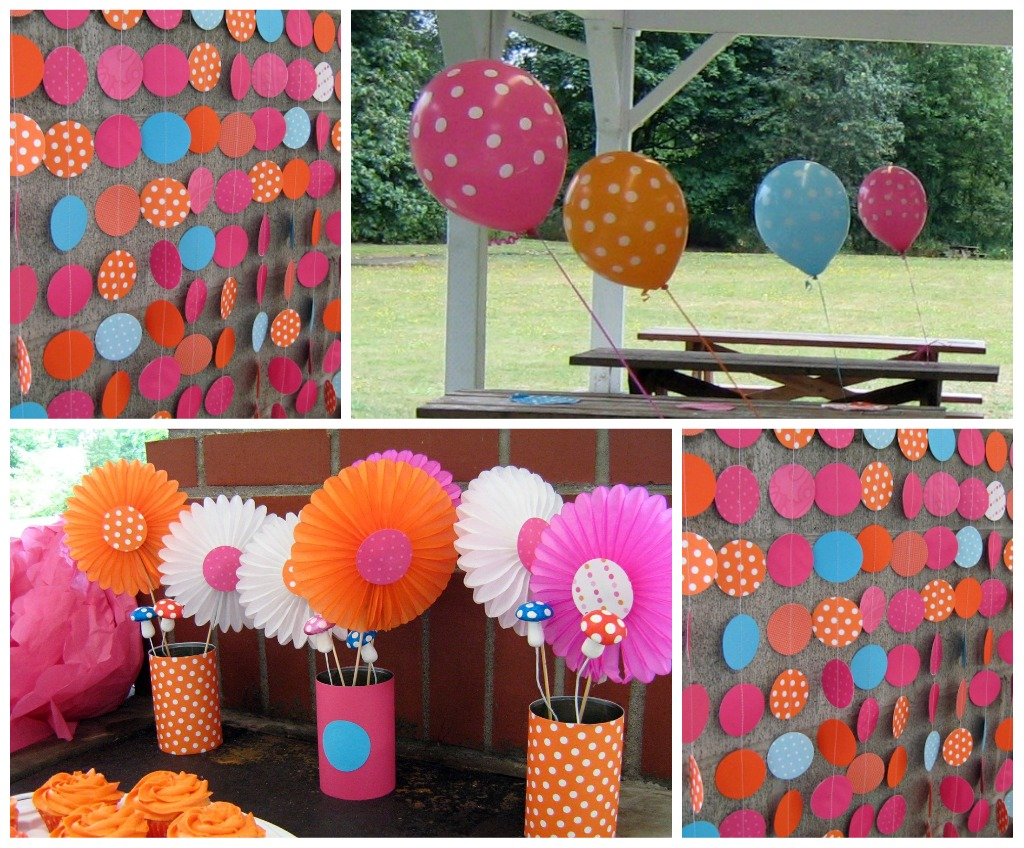 Fowl single file polka dot party favors and decorations for Party streamers decorating ideas