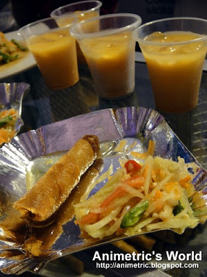 Popia, Somtam Papaya Salad, Thai Milk Tea from Dek A Thai Cuisine