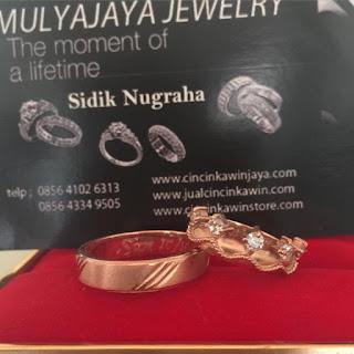 cincin kawin emas rosegold