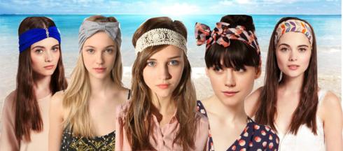 formas de utilizar pañuelos en la cabeza