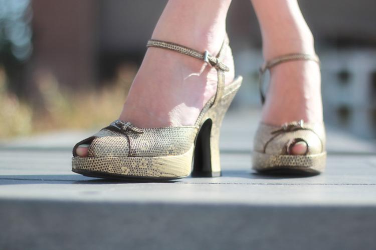 prada snakeskin taupe bone peeptoe sandal platform heels