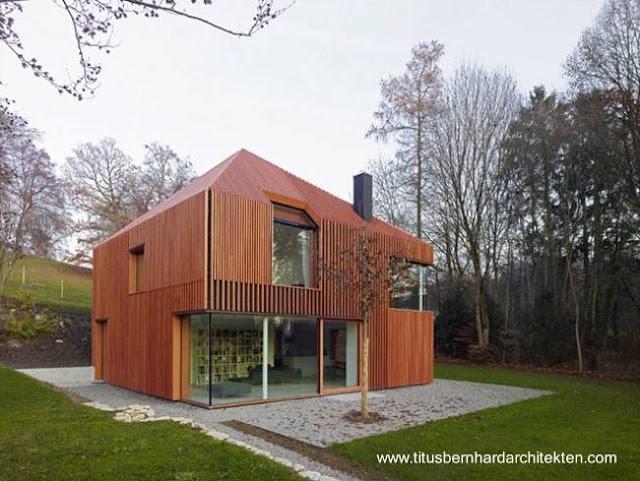 Casa moderna contemporánea con madera en Alemania