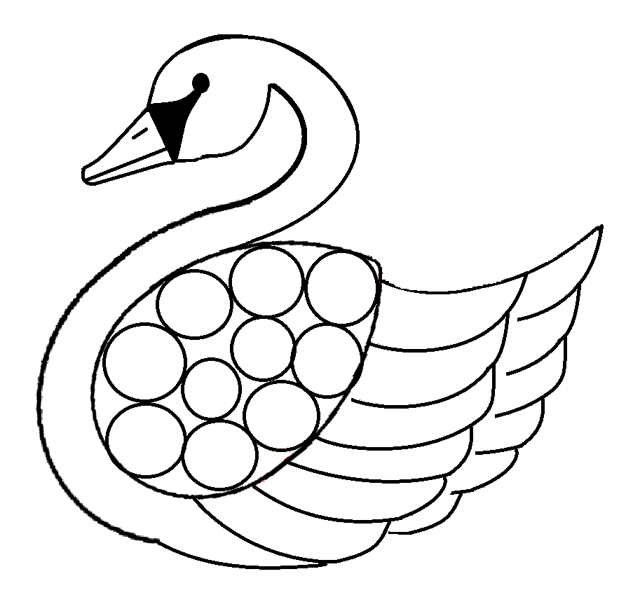 free swan coloring pages - photo#14