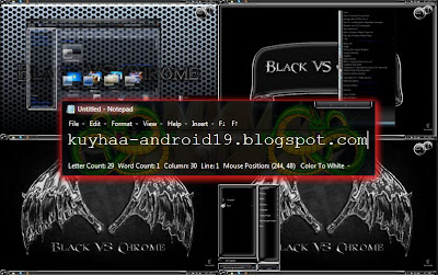 TEMA WINDOWS 7 BLACK VS CHROME GLASS