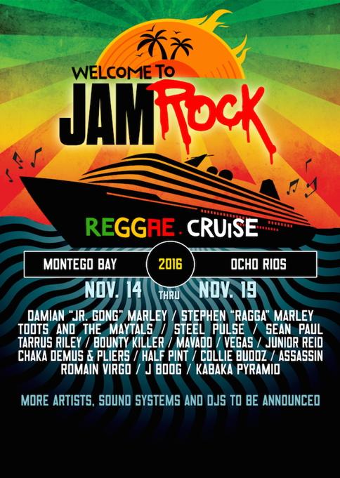 """Damian """"JR. Gong"""" Marley Announces 3rd Annual """"Welcome to Jamrock Reggae Cruise"""" / www.hiphopondeck.com"""