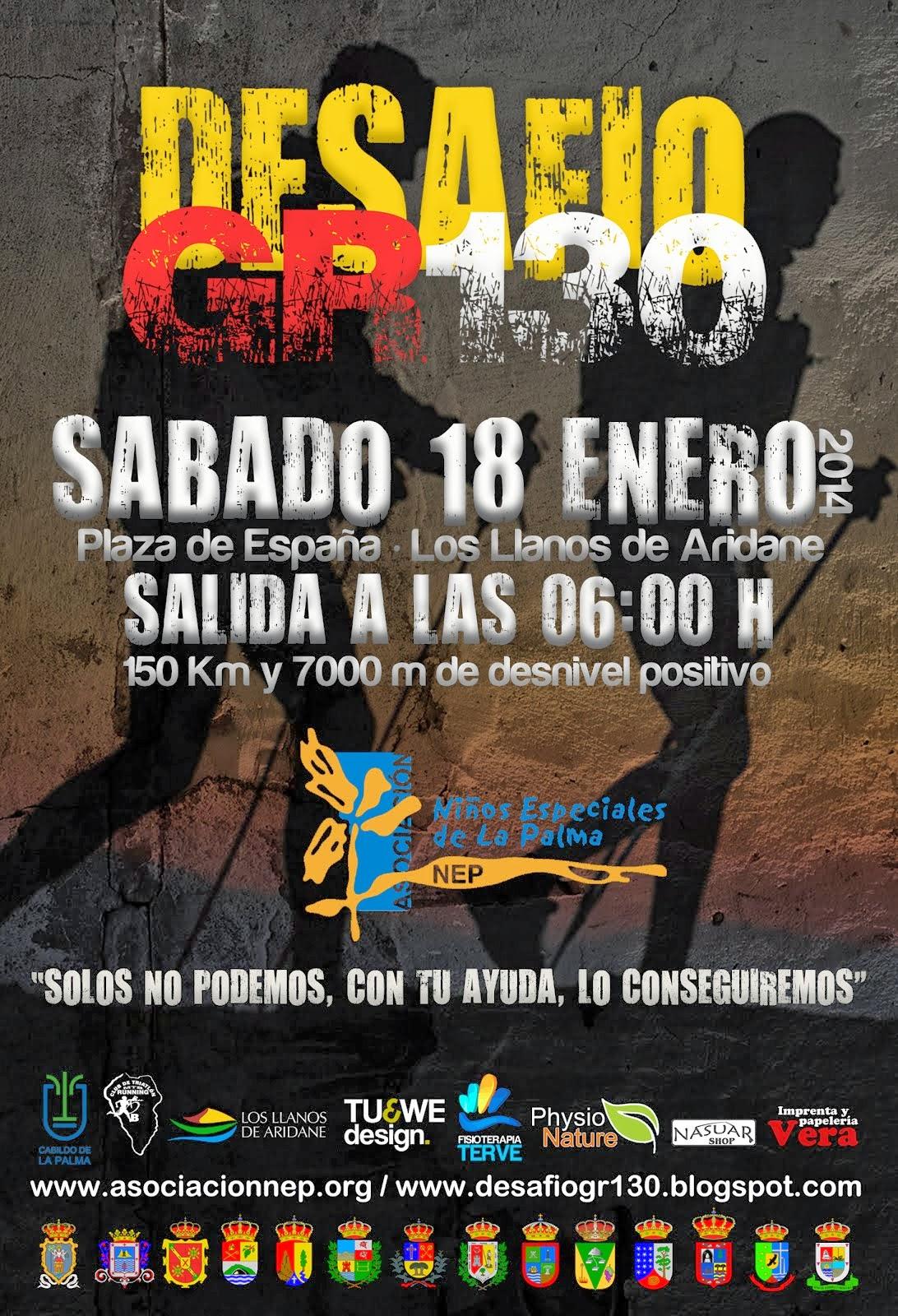 CARTEL DESAFÍO GR130 (AÑO 2014)
