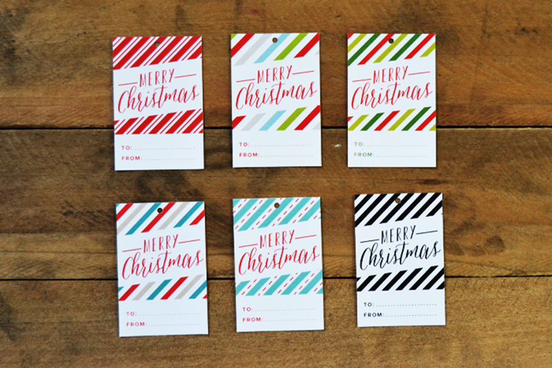LAST MINUTE Printable Christmas Gift Tags