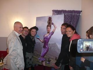 Signature  de photo avec Steve et Sarah Beech, créateurs de Westward Bound