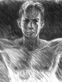 Self Portrait in Charcoal