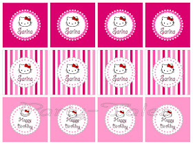 hello kitty cupcake topper template - party tales party printable hello kitty party circles