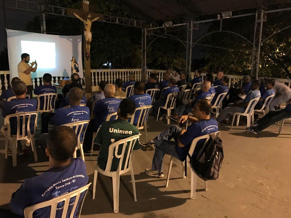 TERÇO DOS HOMENS DA PNSC-STA.CRUZ FAZ PALESTRA SOBRE A CF 2017 - 17/04/2017