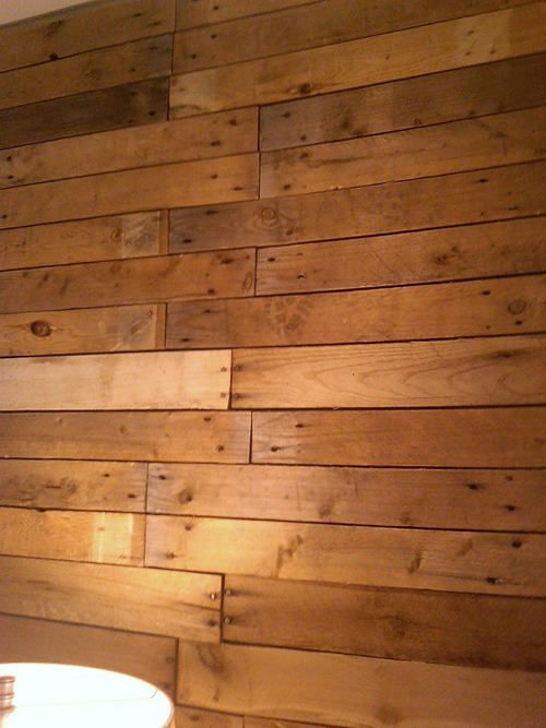 Interior Wall Wood Planks : Diy scrap pallet plank wall poppytalk