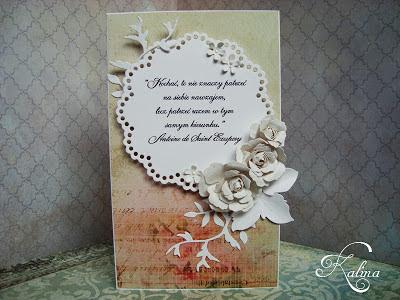 Delikatna ślubna kartka