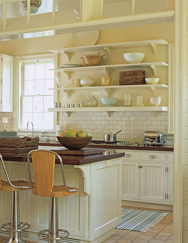Kitchen ideas on pinterest transitional kitchen white for Butter cream colored kitchen cabinets