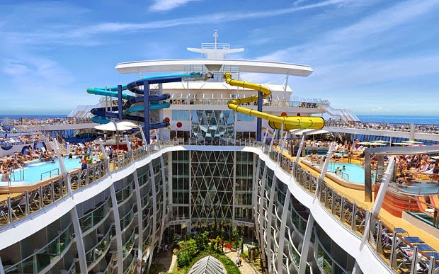 Royal Caribbean has two other ships under construction – Anthem of the Seas, due to launch in April – and Ovation of the Seas, which will also debut in April 2016. The three new vessels will increase the size of the company's fleet to 25.