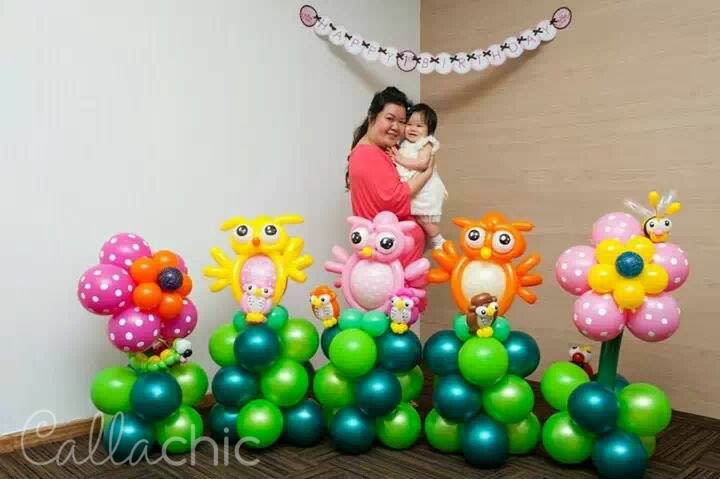 Last But Not Least A Birthday Party Wont Be Complete Without Balloons These Cute Owl Look Totally Awesome They Brighten Up The Place And Really