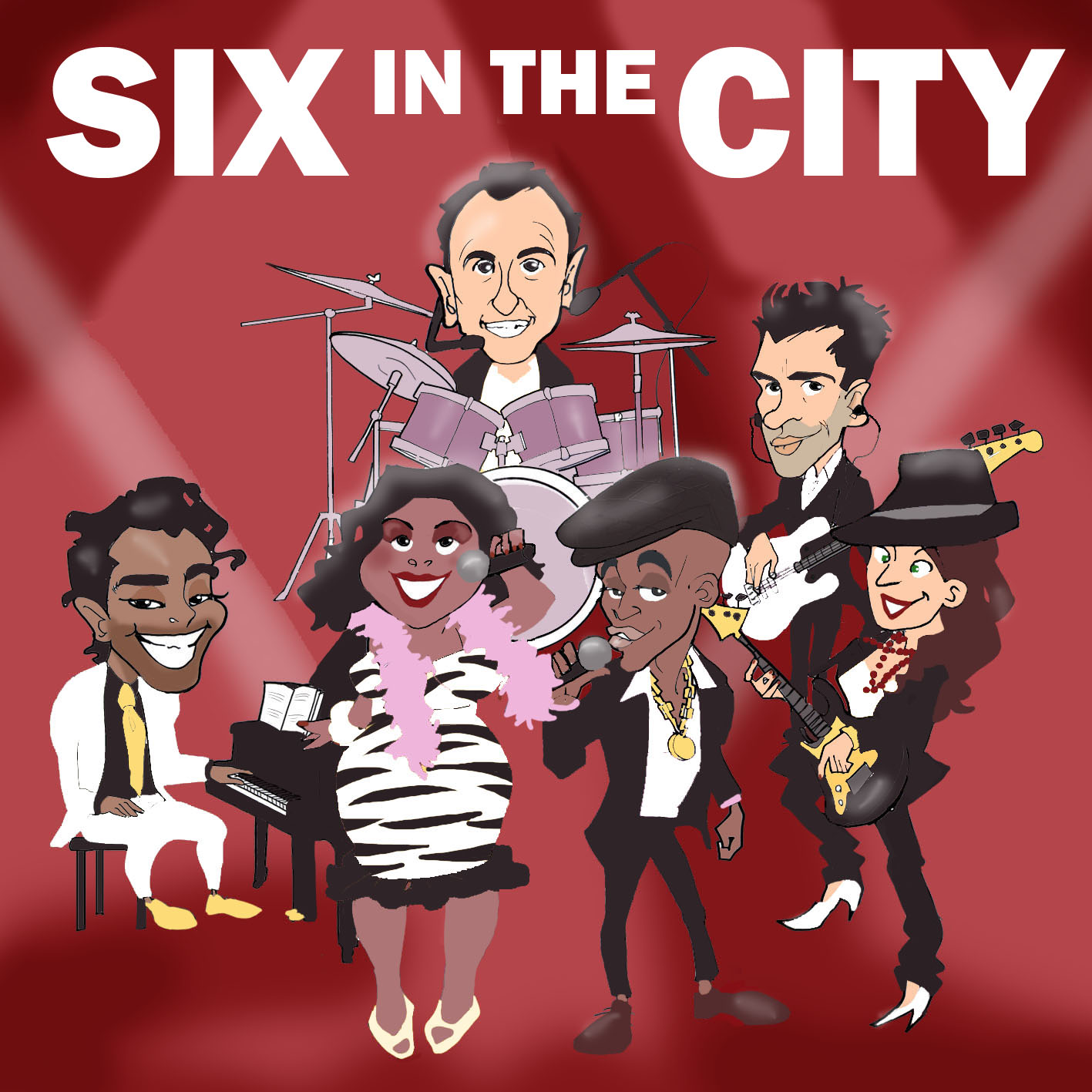 "SIX IN THE CITY"" CD cover"