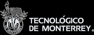 "Image of the ""Tecnologico de Monterrey"" ITESM Logo over black background"