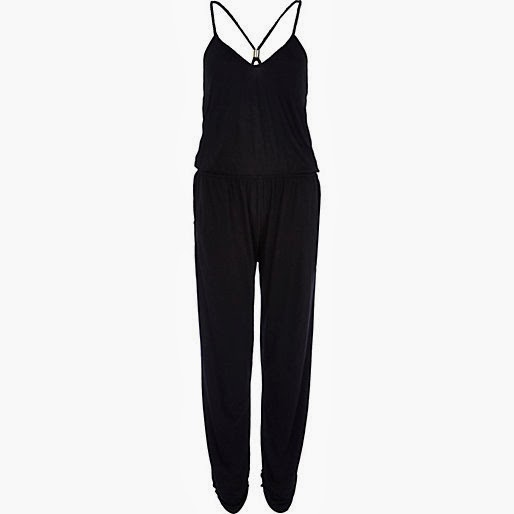 river island black jumpsuit