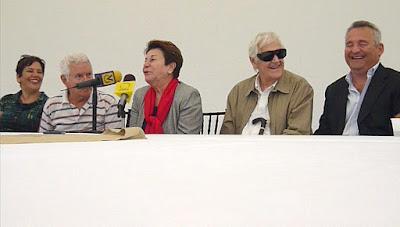 Cornelis Zitman, Belgica Rodríguez, Margarita Narvaez, Pedro Briceño en la Exposición Escultura Escultores de la Galería de Arte Ascaso. Fotografía Gladys Calzadilla