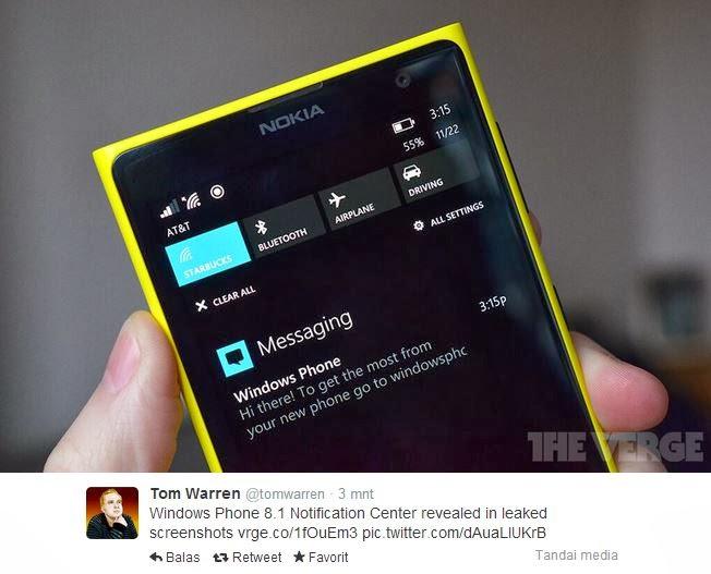 Notification Center di Windows Phone