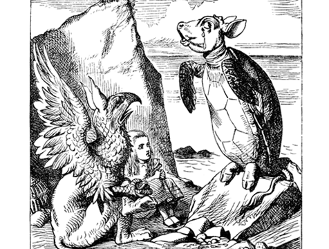 Historia de la Tortuga Artificial ilustrado por John Tenniel para Alicia en el País de las Maravillas - Cine de Escritor