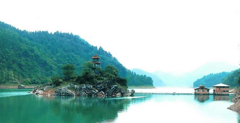 Lago Qiandao ciudad del león china zhejiang