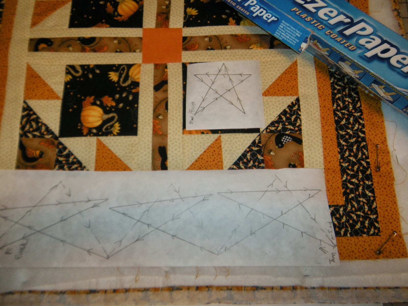 Quilting With Stencils : Life in the Scrapatch: Quilting with Freezer Paper Templates