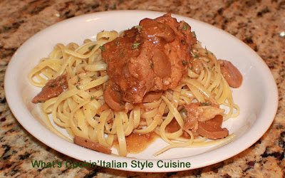 Crockpot Mushroom Marsala Chicken Over Linguine Recipe