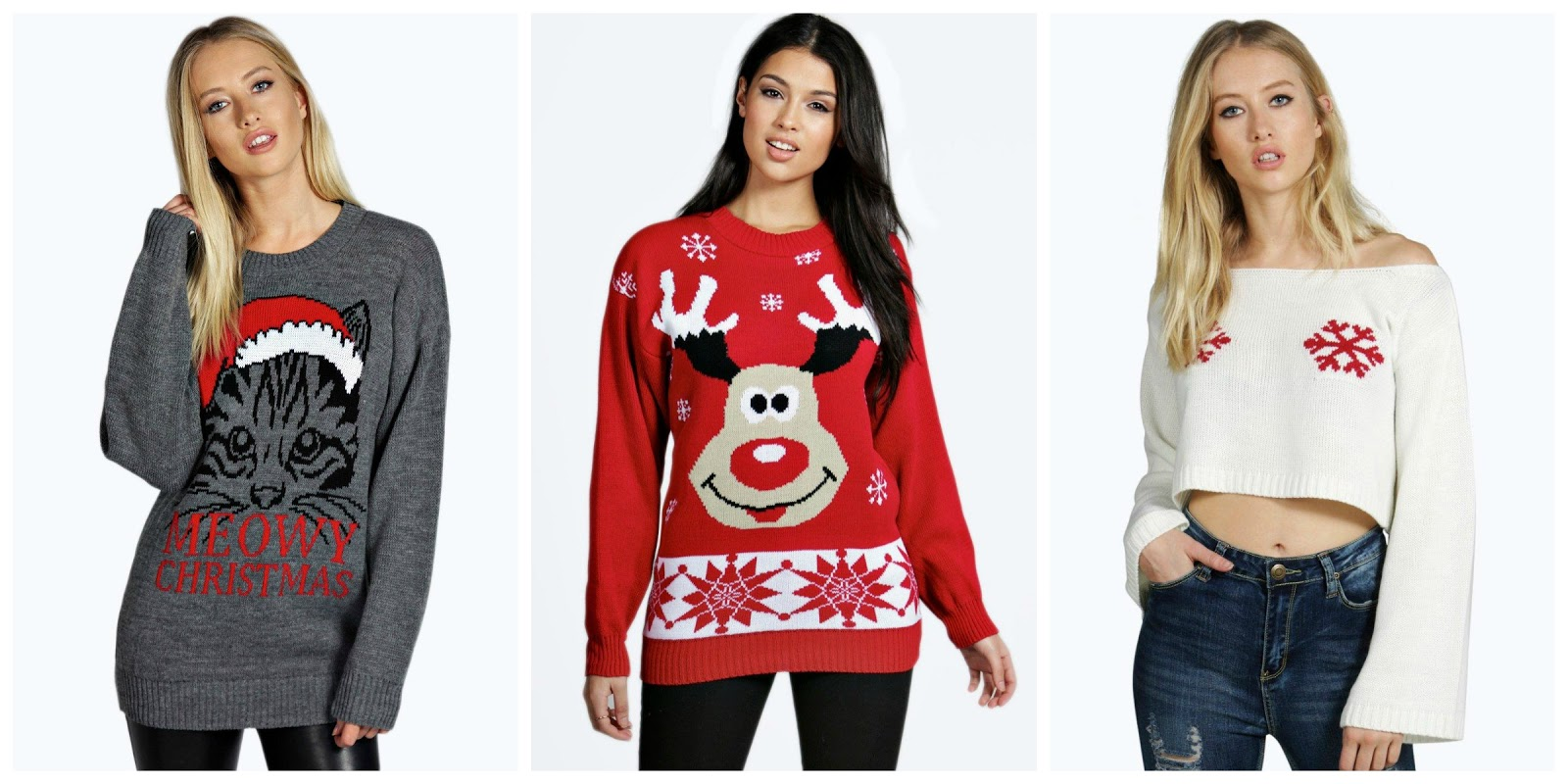 boohoo christmas jumpers