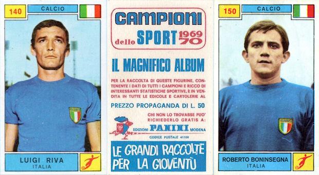 DOMENGHINI Figurina CAMPIONI DELLO SPORT 1969//70-n - CALCIO -Rec ITA 155 A