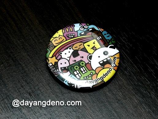 Doodle Art Button Badge