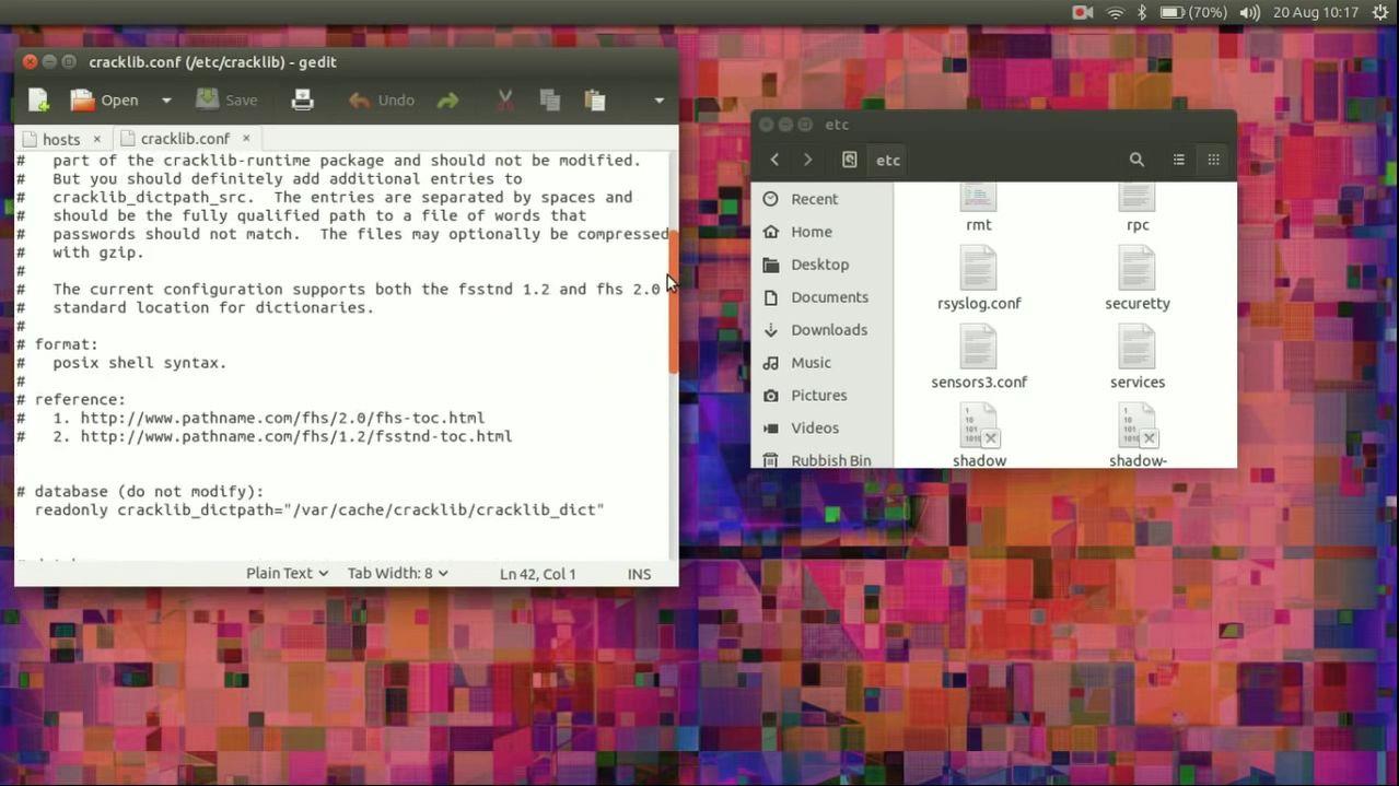 scrollbar di GNOME in Ubuntu