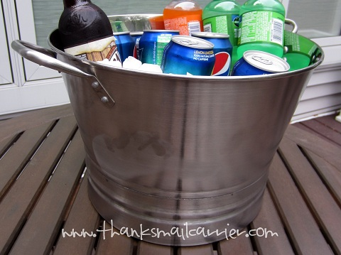 metal drinks bucket