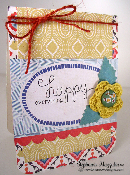 Happy Everything Card by Stephanie Muzzulin for Newton's Nook Designs | Simply Sentimental Stamp set