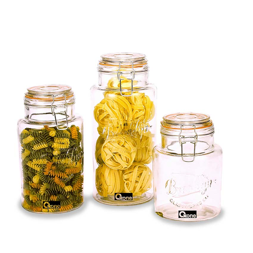 OX-328 Brooklyn Glass Canister Oxone 3Pcs