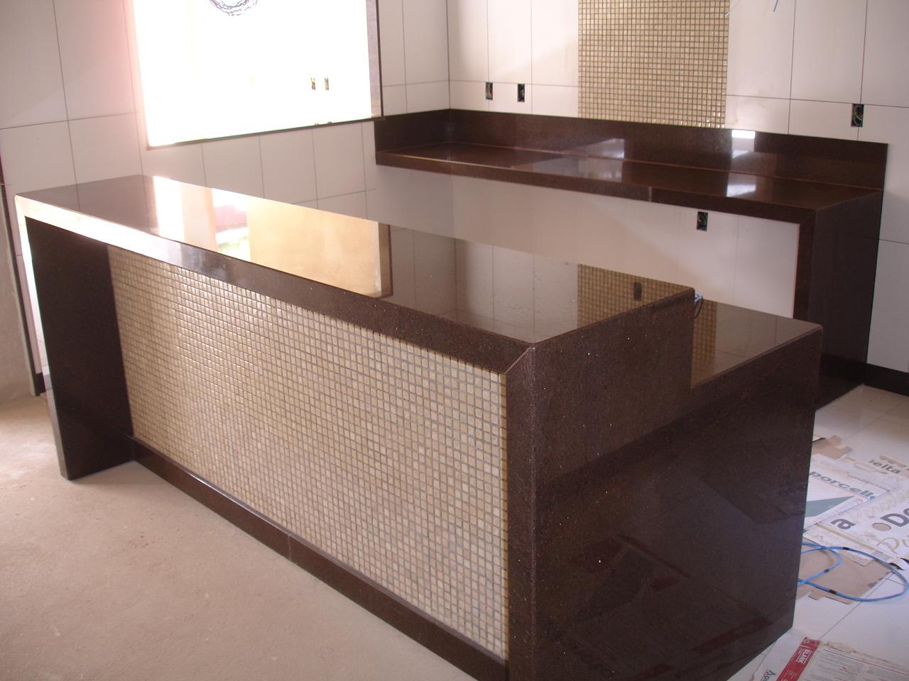 Mármores e Granitos Nacionais e Importados #835E48 1280x960 Banheiro Com Granito Marrom Imperial