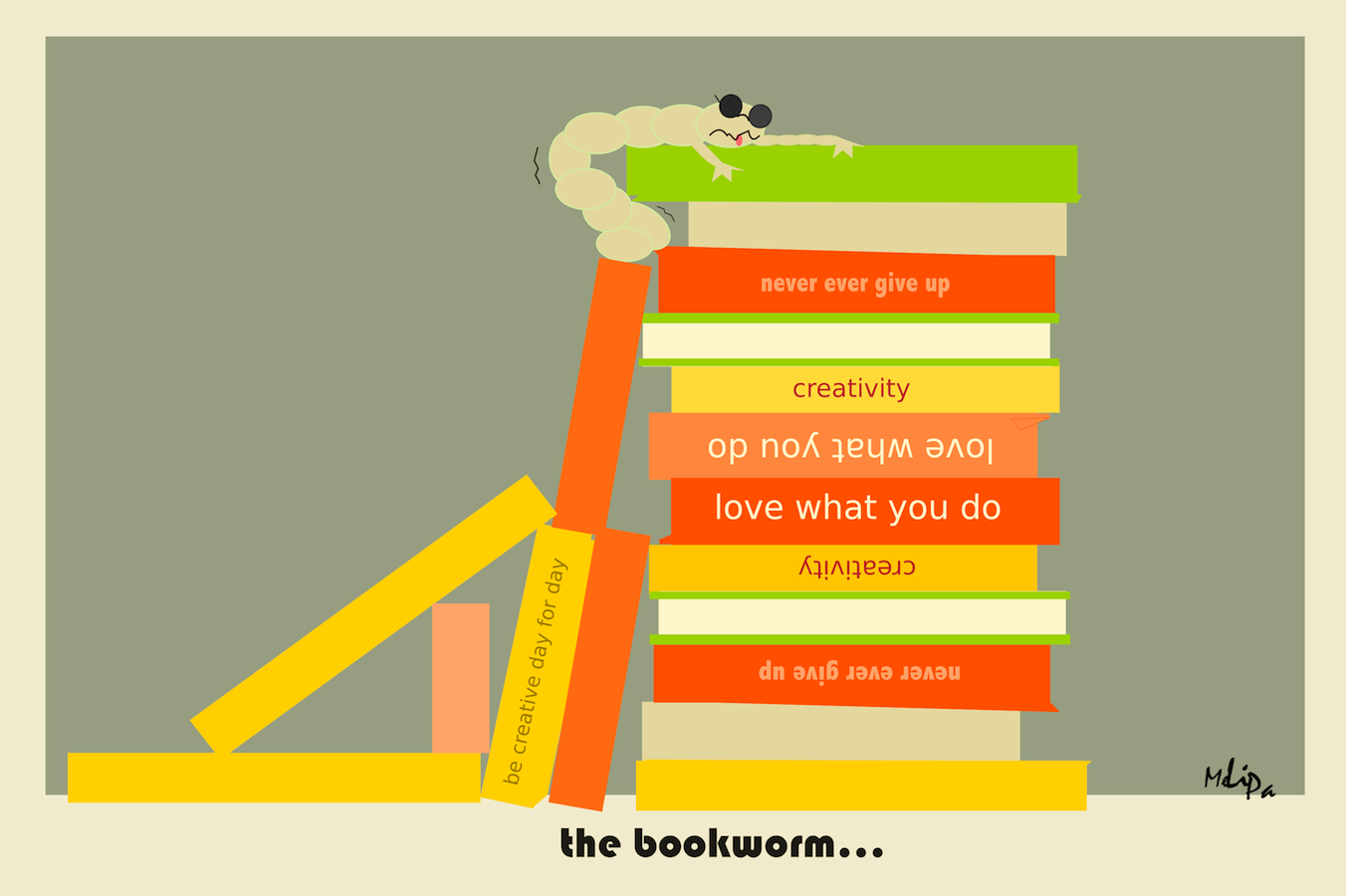 funny bookworm card