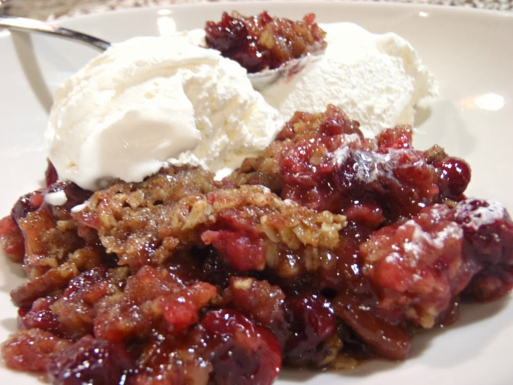 Aunt Peg's Recipe Box: Cranberry Apple Crumble