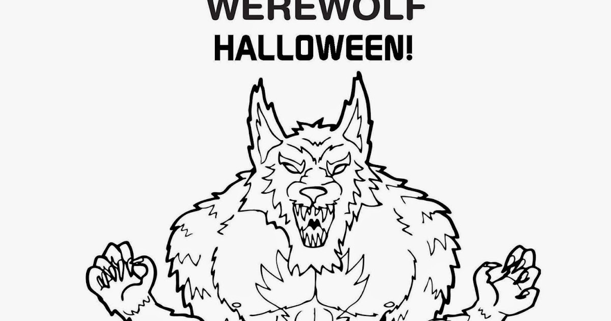 free werewolf halloween coloring pages