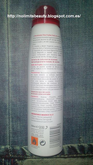 Novedad en Mercadona, mayo 2013: desodorante Red Love By Chica Fashion (Deliplús)