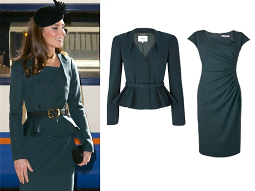 The Duchess Of Cambridge's LK BENNETT Jude Jacket and Davina Dress
