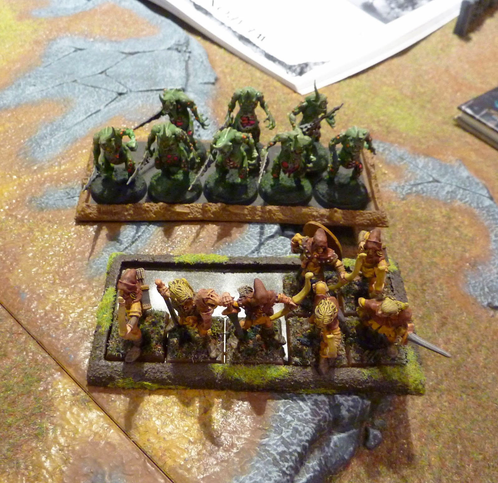 A Warhammer Fantasy Battle Report between Wood Elves and Skaven.