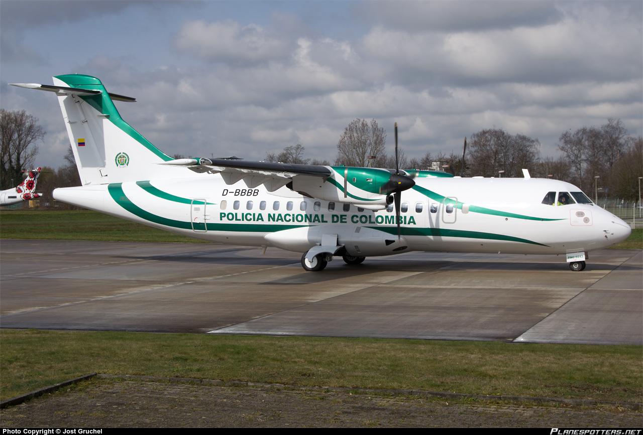 El nuevo avión ATR 42-300, matrícula PNC-0243, de la Policía Nacional de Colombia.