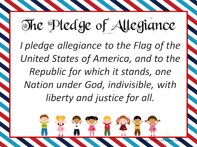 Pledge Of Allegiance Print Pictures to Pin on Pinterest ...