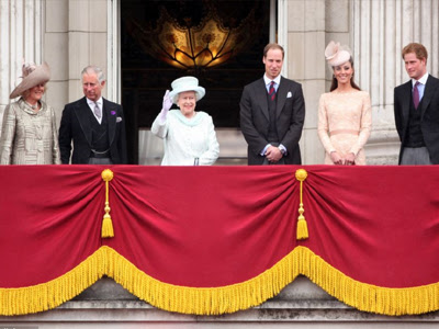 Queen Elizabeth, Camilla, Charles, Prince William, Kate, Prince Harry