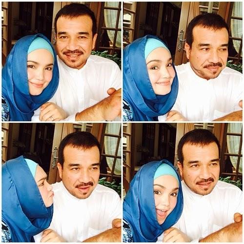 GAMBAR Selfi Datuk Siti Nurhaliza Manja manja Dengan Datuk K