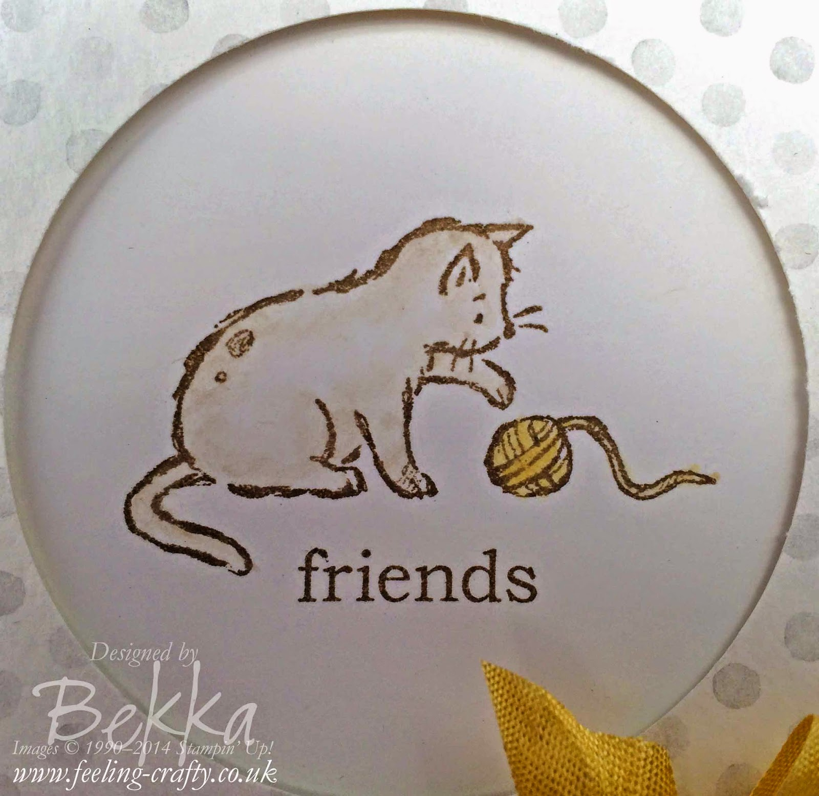 Card for a Cat Lover using Stampin' Up! Supplies which you can get here