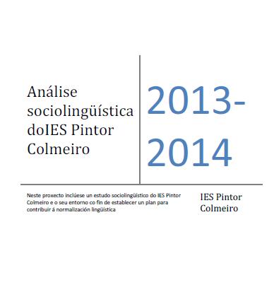 Estudo sociolingüístico IES Pintor Colmeiro