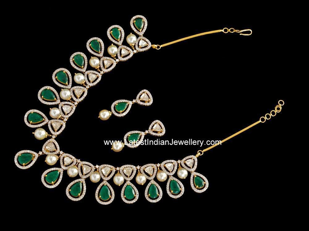 Pachi diamond Emerald set